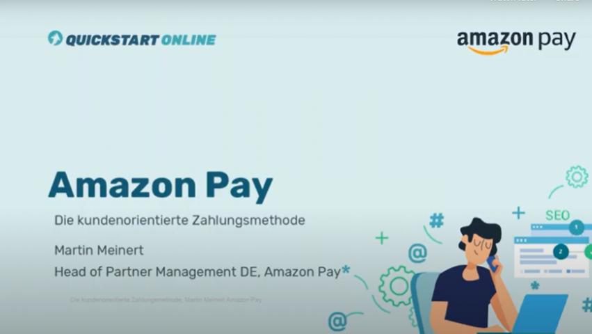 In diesem Onlinekurs wird Amazon Pay als kundenorientiertes Zahlungssystem vorgestellt. Der Trainer ist Martin Meinert, Amazon.